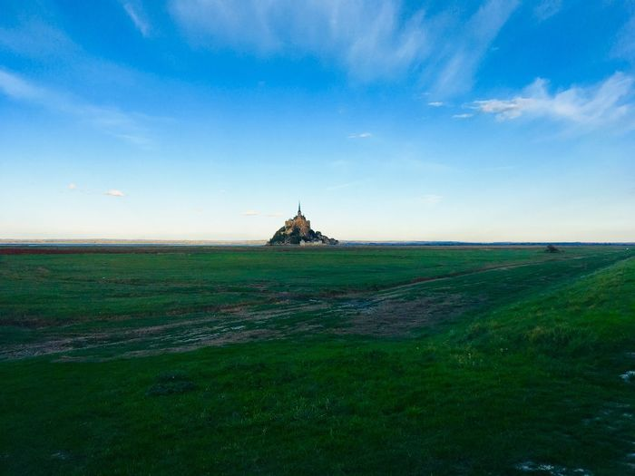 Mont saint Michel from afar Scenic Distance Rock Hill Far Light France Colours Mont Saint Michel Twilight Dusk Horizon Green Sky Land Landscape Field Environment Scenics - Nature Cloud - Sky Tranquility Nature Beauty In Nature Tranquil Scene Agriculture No People Blue Architecture Day Rural Scene The Great Outdoors - 2019 EyeEm Awards The Traveler - 2019 EyeEm Awards The Mobile Photographer - 2019 EyeEm Awards