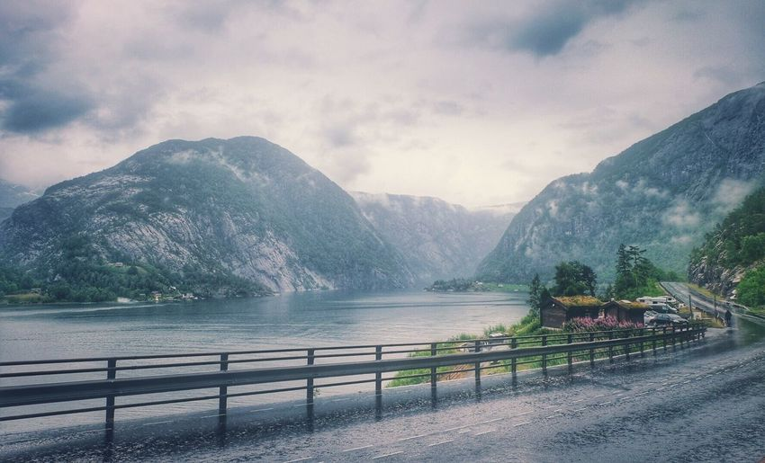 Landscape Landscape_Collection Nature Nature_collection Norway Beauty In Nature Mountain Water Cloud - Sky On The Road Roadtrip Outdoors Sky Paradise The Great Outdoors - 2017 EyeEm Awards Live For The Story