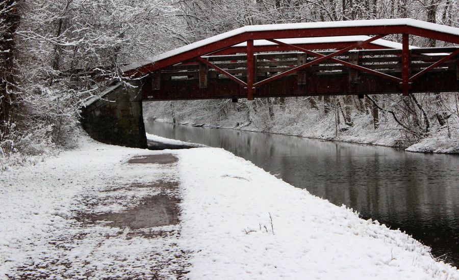 My Best Photo 2016 Winter My Point Of View From My Point Of View The Week On Eyem Winter Wonderland Bridge Snow Red Showcase: February By The River Along The Way Live Love Photography Taking A Walk Welcome Weekly