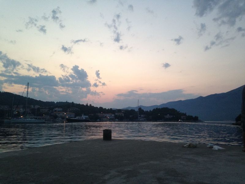 Amazing Calm Croatia Lake Orange Pink River Sky Sky Fall Tranquility Vacations Waterfront