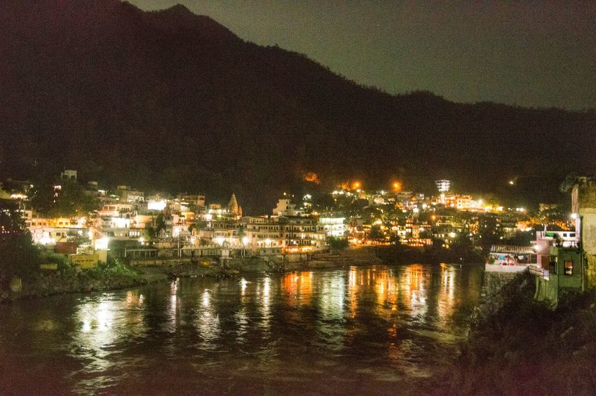 Feel The Journey rishikesh at night Rishikesh Uttrakhand Reflecting Water Check This Out Amazing Ganges Amazing View Incredible India Intense Light First Eyeem Photo Showncase June