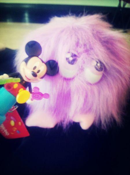 Mickey Pogo Purple Hair