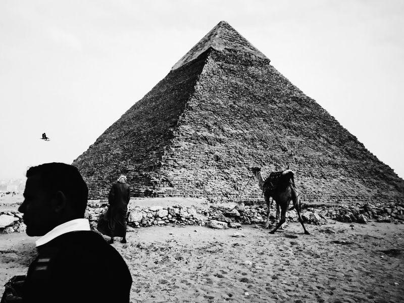 Candid EyeEm EyeEm Best Shots IPhoneography Monochrome Monochrome Photography Outdoors Pyramid Streetphotography The Street Photographer - 2017 EyeEm Awards