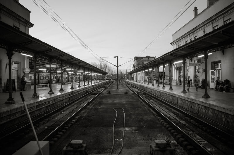 Inside Estação Ferroviária Porto-São Bento, dec/2014. My Best Photo Rail Transportation Railroad Track Mode Of Transportation Public Transportation Sky The Way Forward Diminishing Perspective Transportation Architecture Built Structure