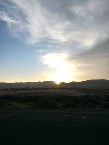 Sunset Rural Scene Desert Tree Beauty Mountain Field Arid Climate Reflection Sky