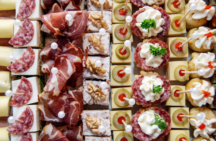 canapes Canapé Food And Drink Catering Catering Food Food Food Decoration Meat Ocassion Salami