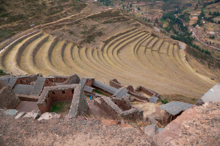 Pisac Perú Ruinas Terraza Day Landscape No People Environment Nature Land History Field Plant High Angle View Outdoors The Past Agriculture Tree Tranquility Rural Scene Architecture Old Ruin Tranquil Scene Ancient Ancient Civilization Archaeology Wheel