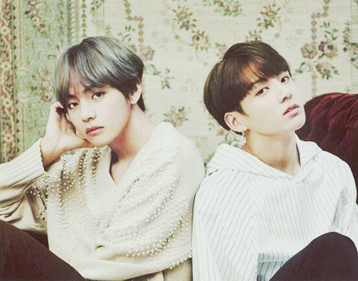These twoooo💕💖 Kookie Taetae Golden Maknae Taehyungie Jeon Jungkook Kim Taehyung 뷔 Kyeopta BTS Bangtan Burn🔥 Fierce Vkook TAEKOOK Vkookienology STAN Beauty
