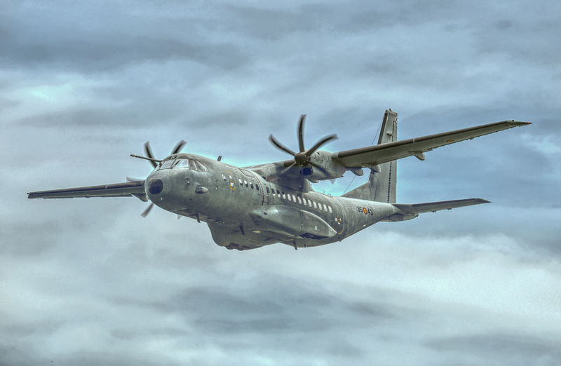 Cn-295 Plane Transportation Cloud - Sky No People Sky Spanish Airforce