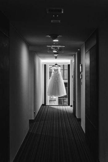 Wedding dress Dress Wedding Wedding Photography White Dress Arcade Architecture Blackandwhite Building Ceremony Corridor Direction Entrance Hotel Illuminated Indoors  Lighting Equipment Luxury No People Wedding Ceremony Wedding Dress