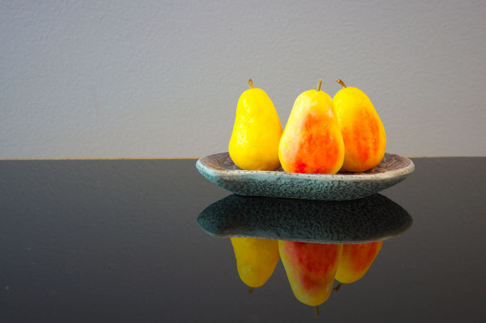 pear shaped soap in a soap dish Citrus Fruit Close-up Copy Space Food Food And Drink Freshness Fruit Gray Gray Background Group Of Objects Healthy Eating Indoors  No People Orange Pepper Soap Soap Dish Still Life Studio Shot Table Wall - Building Feature Wellbeing Yellow The Still Life Photographer - 2018 EyeEm Awards