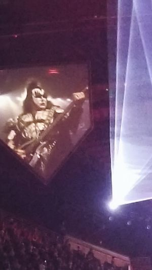 Gene Simmons Kiss Kiss Army Painted Face Concert Spotlight Illuminated