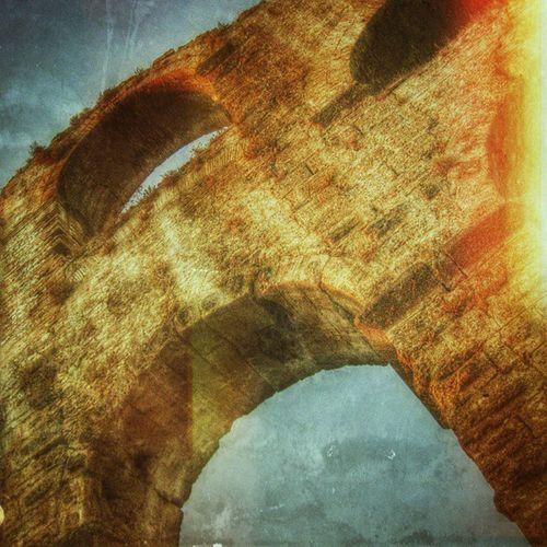 турция акведук Аспендос ретро Turkey Aspendos  Aqueduct Antient Hystory Retro Lategram