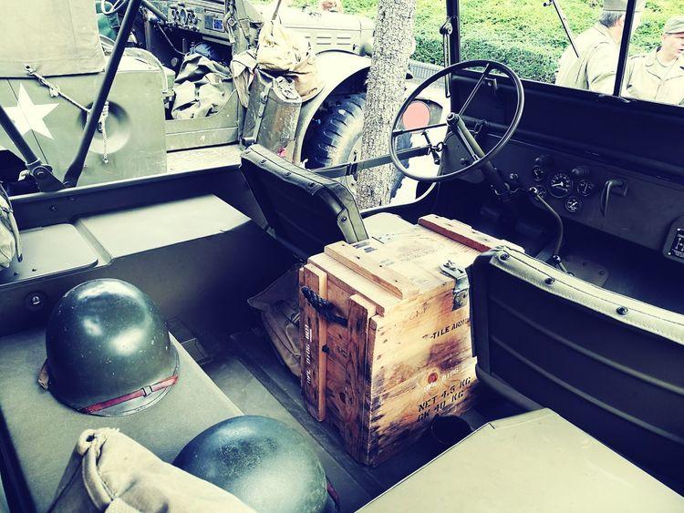Close-up Vintage Memorials War Memorabilia Old Car War Vehicle