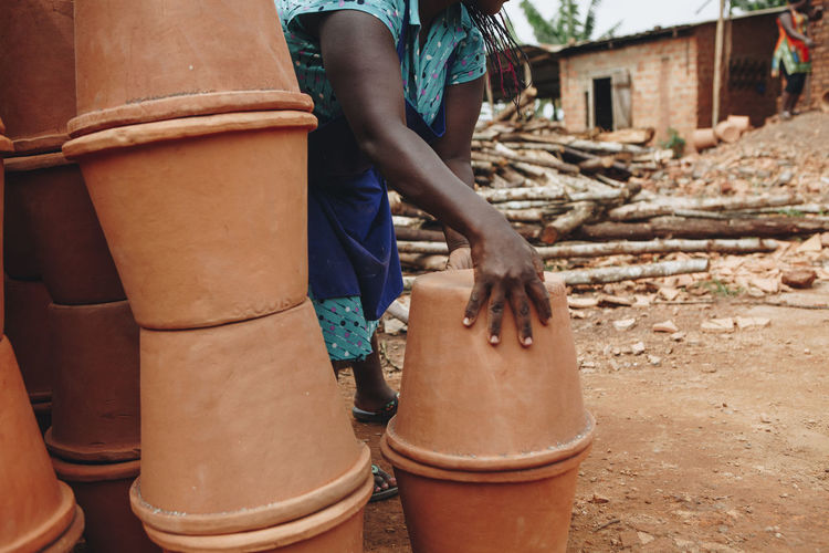 African woman working in uganda