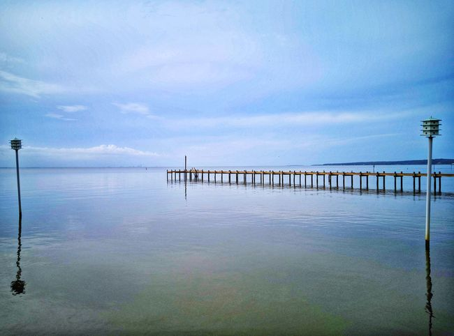 Pier Horizon Walk Smartphonephotography Nature Sky And Clouds Ocean Horizon Over Water Water Lake Bird Sky Cloud - Sky Pier Wooden Post EyeEmNewHere