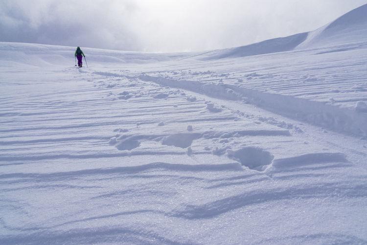 Ski touring at