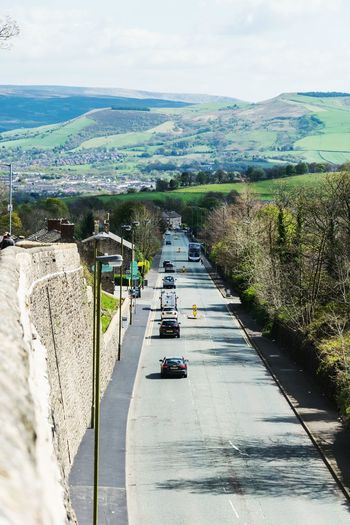 High Angle View Day Road Car Outdoors Architecture Mottram Longdendale Mottram Moor Roe Cross Frog In The Wall Driving