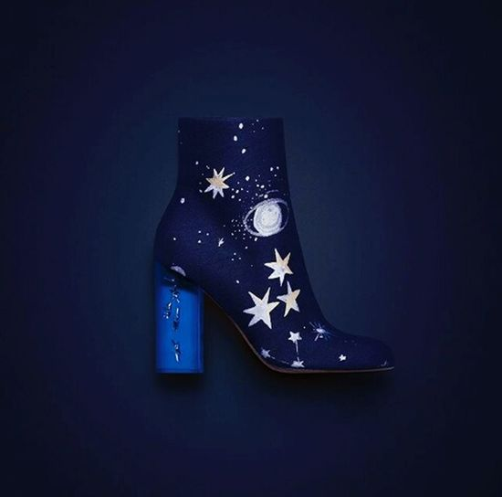 Getting Creative Maisonvalentino Stars Galaxy Shoes Fashionista Darkblue