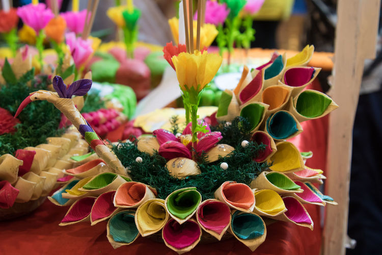 Close-up of multi colored flower bouquet