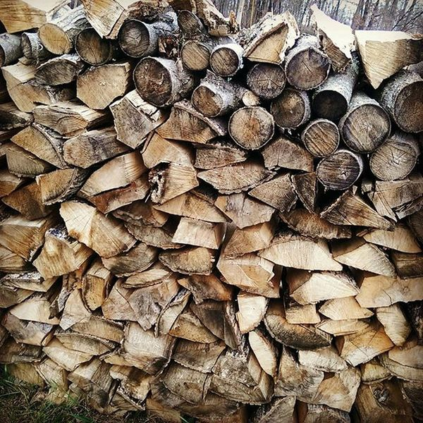 That's a lot of Wood! Fun On The Farm Wood Pile Brown Winter Fall Ready For Winter