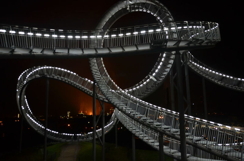 Architecture Built Structure Duisburg Famous Place Illuminated Landmark Night Ruhrgebiet Ruhrpott Sculpture Tiger And Turtle Tiger&turtle  Tigerandturtle Fresh On Market 2016