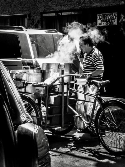 Tamales Oficios De Mexico Men Transportation Real People Mode Of Transportation Smoke - Physical Structure People Casual Clothing Occupation