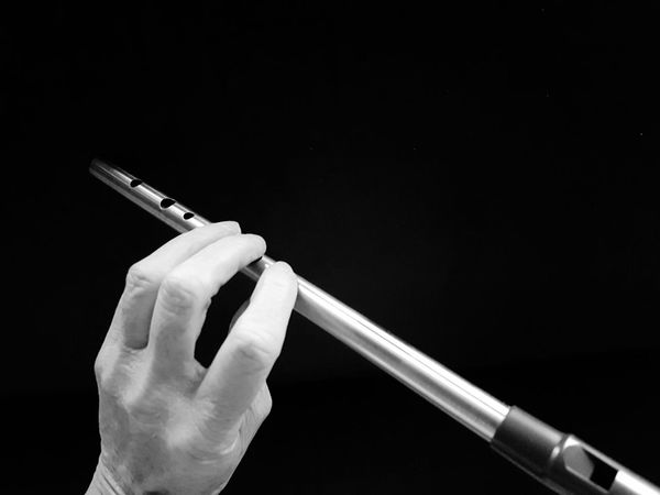 Tin Whistle Human Hand Human Body Part Musical Instruments Musician Holding Indoors  Black And White Day Close-up Black And White Friday Be. Ready.