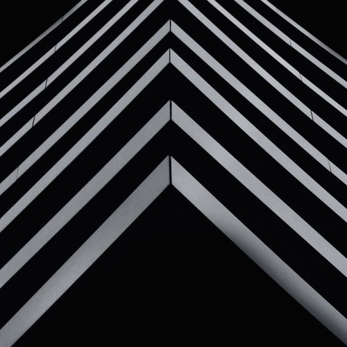 Backgrounds Repetition Architecture Abstract Lines Pattern Triangle Shape Architecture No People Low Angle View Symmetry Night Outdoors Close-up