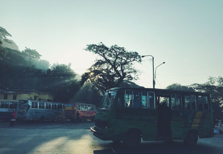 Beautiful Sun Rays Winter Early Morning Mode Of Transport Transportation Land Vehicle Road City Tree Morning Trees Tree Real People Outdoors Building Exterior Architecture Day The Street Photographer - 2017 EyeEm Awards Neighborhood Map