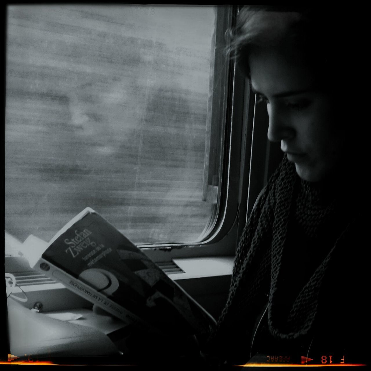 transportation, window, real people, one person, day, young adult