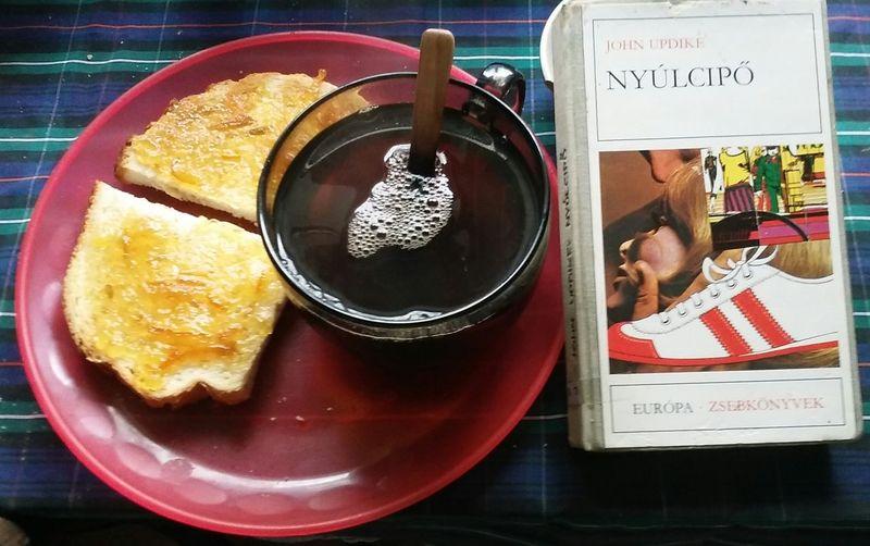 sunday morning combo. Nero extra stron tea, Sevilla orange marmalade and Updike. Tea Orange Marmalade Book John Updike Morning