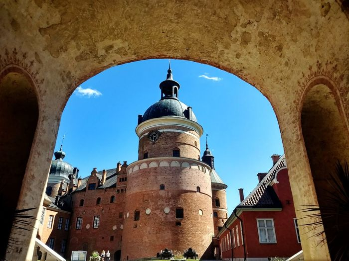 Gripsholm castle Dome Ancient Civilization Place Of Worship History Arch City Sky Architecture Building Exterior Built Structure Castle Fortified Wall Medieval
