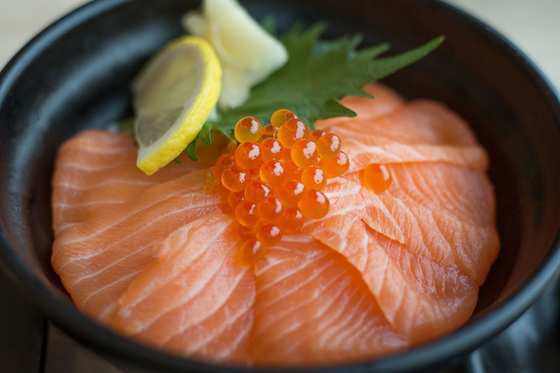 Salmon Salad SalmonLove Close-up Day Fish Food Food And Drink Freshness Healthy Eating Indoors  Japanese Food No People Ready-to-eat Salmon Salmon - Seafood Salmon Dinner Salmon Fishing Salmon Sashimi Salmon Sushi Salmone Sashimi  Seafood Sushi