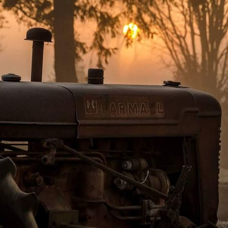 Vintage sunrise Nikon D7000 Sunrise Ontario, Canada London Ontario Canada NikonLife Canada Coast To Coast Old-fashioned Vintage Tractor Foggy Morning Golden Hour