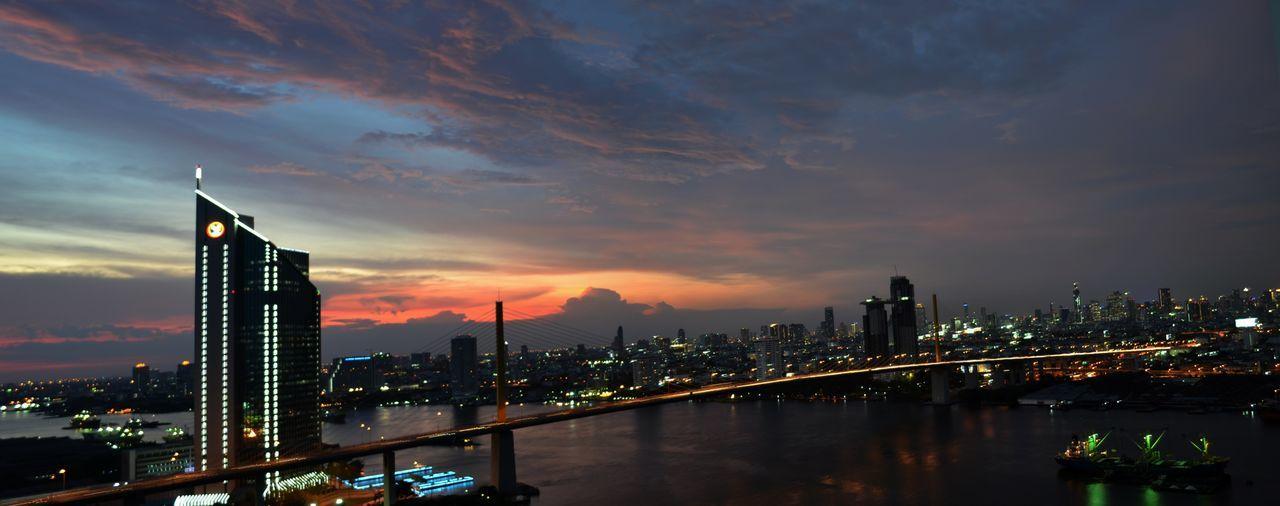 Panorama City City Night Light Cityscapes Cityscape City Lights City View  Citylights Bangkok Sky