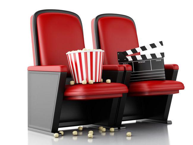 3D 3D Glasses  Fun Popcorn Audience Cinema Clapperboard Drink Entertainment Illustration Movıe Render Spectator Watching