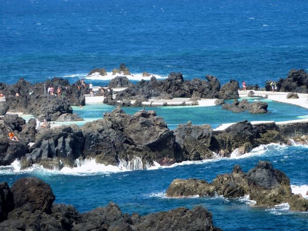 Rock Swimmingpool near porto Moniz, Madeira,Portugal Sea Water Blue Nature Day Scenics Outdoors Sea Ocean Ocean View Madeira Porto Moniz Swimming Swimming Pool SeaWater🌊 Travel Tourist Attraction  Copy Space