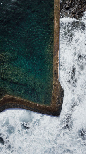 nature pool Water Sea Nature High Angle View No People Day Motion Beauty In Nature Swimming Pool Outdoors Pool Scenics - Nature Flowing Water Tranquility Power In Nature Nature Nature_collection Drone  Dronephotography Tenerife EyeEm Best Shots EyeEmNewHere EyeEm Nature Lover EyeEm Selects EyeEm Gallery