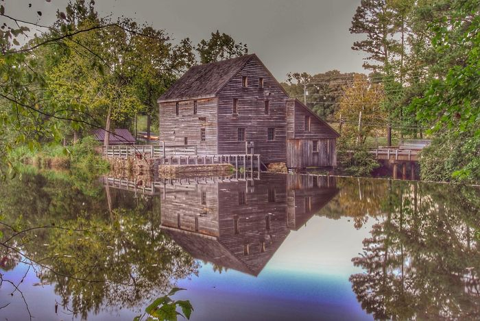 Old Historic Mill Reflection_collection Reflections In The Water Reflections Reflection Historical Building Historic History Hdr Edit Hdrphotography Hdr_Collection HDR Water Architecture Reflection Built Structure Plant Tree Nature Day Sky No People Building Exterior Building Waterfront Lake Outdoors Growth Beauty In Nature Tranquility House