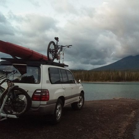 So how's about we set camp on the boat ramp??? Adventuremobile Camping PNW Nature
