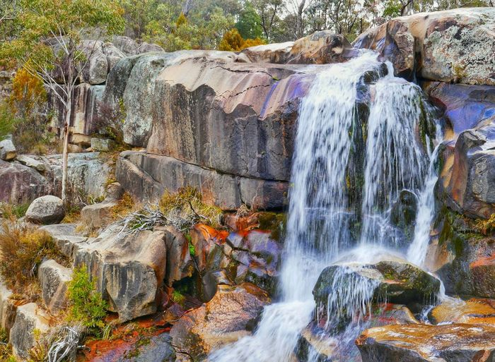 Long Exposure Waterfall Outdoors Beauty In Nature No People Nature Australian Landscape Cbr Bushes And Trees Water Beauty In Nature Rock - Object Travel Creek Rocks And Water Tranquil Scene Wallpaper Screensaver Backgrounds Australian Travel EyeEmNewHere EyeEm Selects Breathing Space Perspectives On Nature