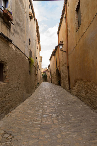 Catalonia Country Rural SPAIN Alley Architecture Building Exterior Built Structure Day Girón Medieval No People Old Outdoors Peratallada Residential Building Sky The Way Forward Walkway
