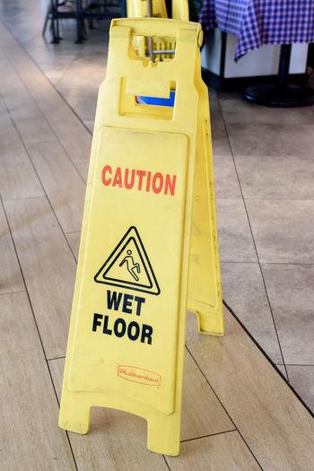 caution wet