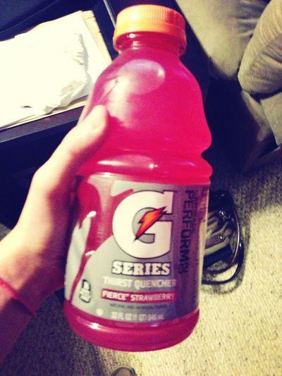 Drinking Gatorade
