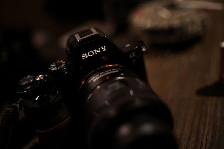 Sony Sonyalpha Camera Photography Camera - Photographic Equipment Sonyalpha Sonyalpha7 Filmaker Film Industry Technology Black Color Close-up