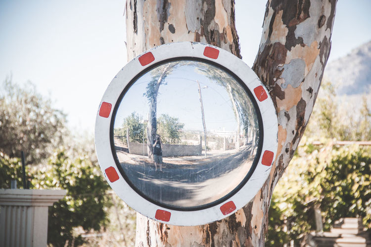 Look Around  Mirror Rhodos, Greece  Architecture Built Structure Circle Clear Sky Close-up Day Focus On Foreground Geometric Shape Nature Outdoors Plant Reflection Sky Summer ☀ Sunlight Transparent Tree