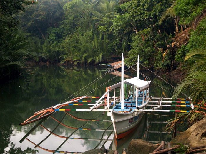 Boat Nature Transportation Tranquility No People Philippines Mirrored Waters Reflection Day