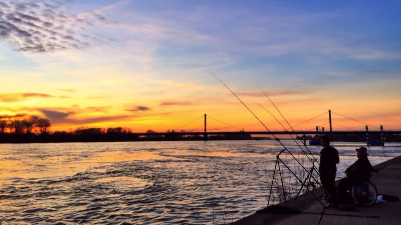 Day 82 - Fishing iPhone 6 - Pro HDR X- Snapseed, PS Express Sunset_collection Sunset