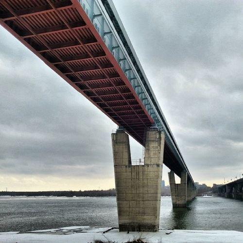 2014 -03-26, Новосибирск . Метромост через Обь . Конструкция/ Novosibirsk. Metropoliten bridge over river Ob. Construction.